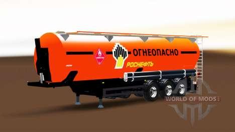 El tanque de combustible semi-remolque Rosneft para Euro Truck Simulator 2