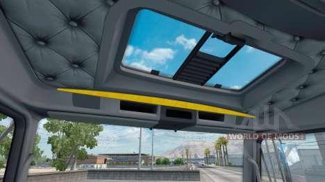 El interior es de color Amarillo-gris Kenworth W para American Truck Simulator