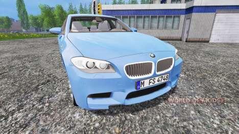 BMW M5 (F10) 2011 [zivil kdow] para Farming Simulator 2015