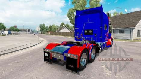 La piel Optimus Prime v2.1 para el camión Peterb para American Truck Simulator
