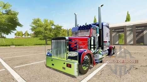 Peterbilt 388 Optimus Prime para Farming Simulator 2017