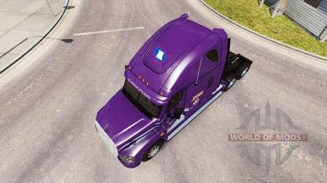 La piel Pacto tractor Freightliner Cascadia para American Truck Simulator