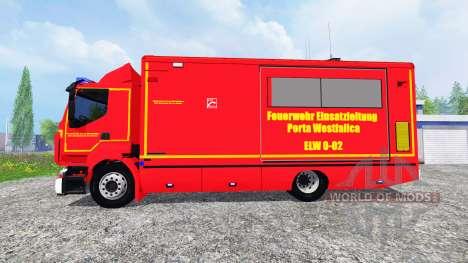 Renault Premium Porta Westfalica ELW para Farming Simulator 2015