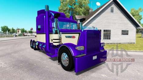 Metálico de color Púrpura en la piel para que el para American Truck Simulator