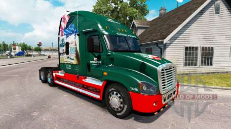 Скин INTERESTATAL 80 Años de на Freightliner Cas para American Truck Simulator