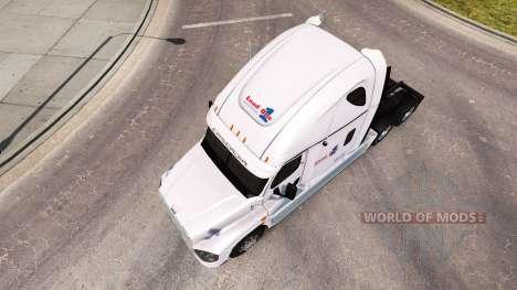 La piel de la Carga en un camión Freightliner Ca para American Truck Simulator