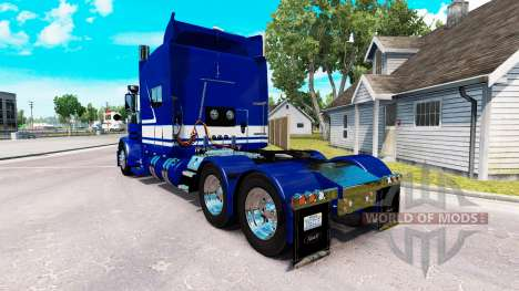 Скин Jack C. Moss Trucking Inc. на Peterbilt 389 para American Truck Simulator