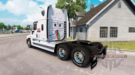 Скин P. A. M. Transporte2 на Freightliner Cascad para American Truck Simulator