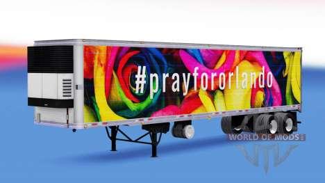 La piel PrayForOrlando en el remolque para American Truck Simulator