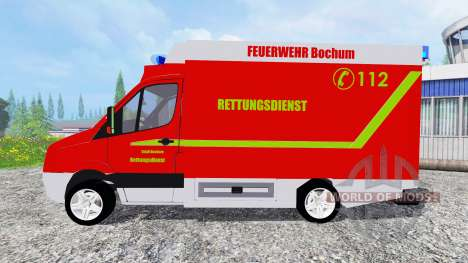 Volkswagen Crafter Feuerwehr Bochum para Farming Simulator 2015