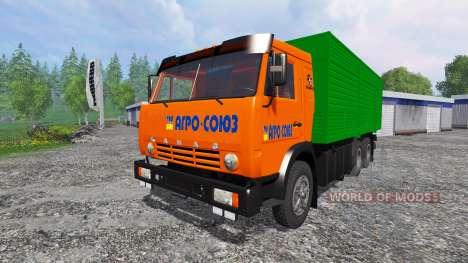KamAZ-53212 [naranja] para Farming Simulator 2015
