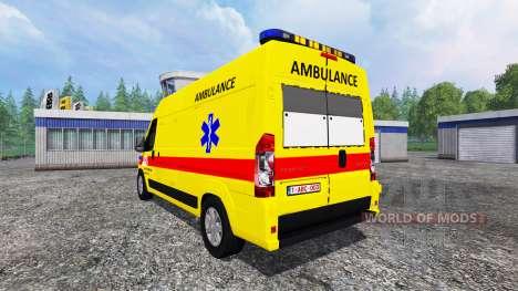 Peugeot Boxer [ambulance] para Farming Simulator 2015