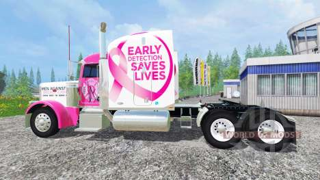 Peterbilt 388 [breast cancer] para Farming Simulator 2015