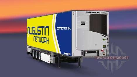 Semi-remolque frigorífico Chereau Augustin de la para Euro Truck Simulator 2