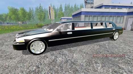Lincoln Town Car Limousine para Farming Simulator 2015