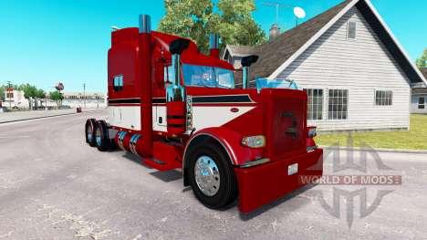 Barón rojo de la piel para el camión Peterbilt 3 para American Truck Simulator