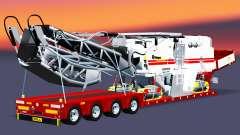Baja de barrido con una carga cepilladoras para Euro Truck Simulator 2