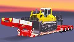Bajo la cama de arrastre de la Muñeca con una carga de bulldozer v2.0 para Euro Truck Simulator 2