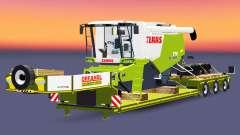 Baja de barrido con una carga CLAAS Lexion 770 para Euro Truck Simulator 2