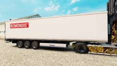 La piel Remondis en el semirremolque-el refrigerador para Euro Truck Simulator 2