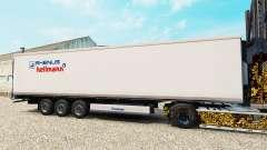 La piel de Rhenus Hellmann en el semirremolque-el refrigerador para Euro Truck Simulator 2