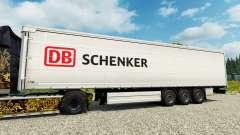 DB Schenker skin for trailers para Euro Truck Simulator 2