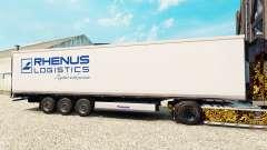 La piel Rhenus Logistics para la semi-refrigerados para Euro Truck Simulator 2