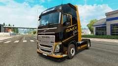 El Oro negro de la piel para camiones Volvo para Euro Truck Simulator 2