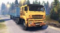 KamAZ-65226 v4.0 para Spin Tires