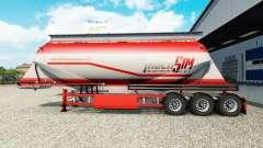 TruckSim de la piel en el semirremolque-camión de cemento para Euro Truck Simulator 2