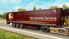 La piel de UPS para remolques para Euro Truck Simulator 2