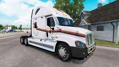 La piel METROPOLITANA de camión Freightliner Cascadia para American Truck Simulator