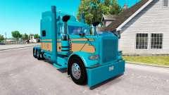 Скин Johnson Ganado LLC на Peterbilt 389 para American Truck Simulator
