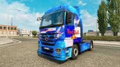 Rojo de la piel de Toro para el camión Mercedes-Benz para Euro Truck Simulator 2