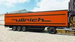 La piel Ullrich en el semirremolque-el refrigerador para Euro Truck Simulator 2