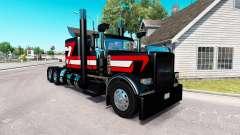 Negro Metálico de la piel para el camión Peterbilt 389 para American Truck Simulator