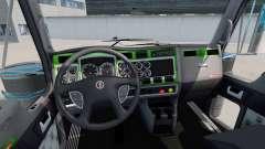 Interior Verde-gris-para Kenworth W900 para American Truck Simulator