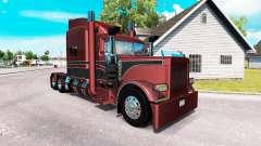 Metálico de la piel para el camión Peterbilt 389 para American Truck Simulator