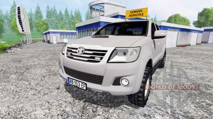 Toyota Hilux [convoi agricole] v2.0 para Farming Simulator 2015