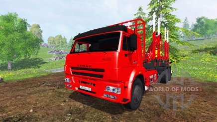 KamAZ-65117 6x4 [de madera] para Farming Simulator 2015