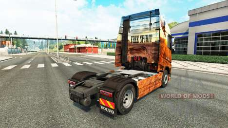 Espíritu libre de la piel para camiones Volvo para Euro Truck Simulator 2