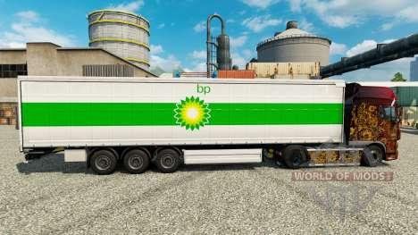 La piel de BP en semi para Euro Truck Simulator 2