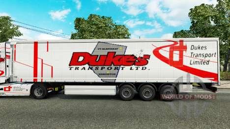 Los duques de Transporte de la piel para remolqu para Euro Truck Simulator 2