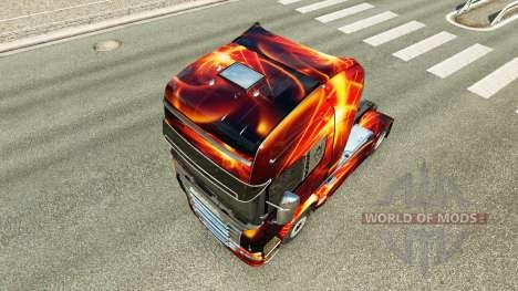 Fuego Efecto de la piel para Scania camión para Euro Truck Simulator 2