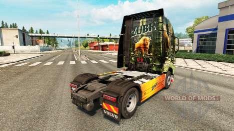 Zubr de la piel para camiones Volvo para Euro Truck Simulator 2