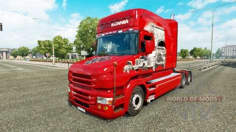 La piel Scania Historia en el camión Scania T para Euro Truck Simulator 2