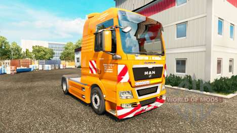 La J. Eckhardt Spedition piel v1.8 el tractor HO para Euro Truck Simulator 2