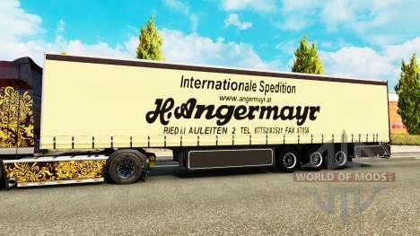 Cortina semi-remolque Vogelzang Angermayr para Euro Truck Simulator 2
