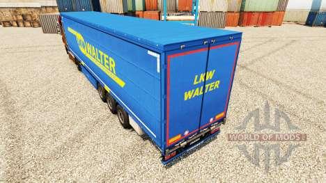 CAMIÓN WALTER skin for trailers para Euro Truck Simulator 2