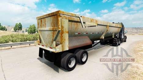 Volquete semirremolque con óxido para American Truck Simulator